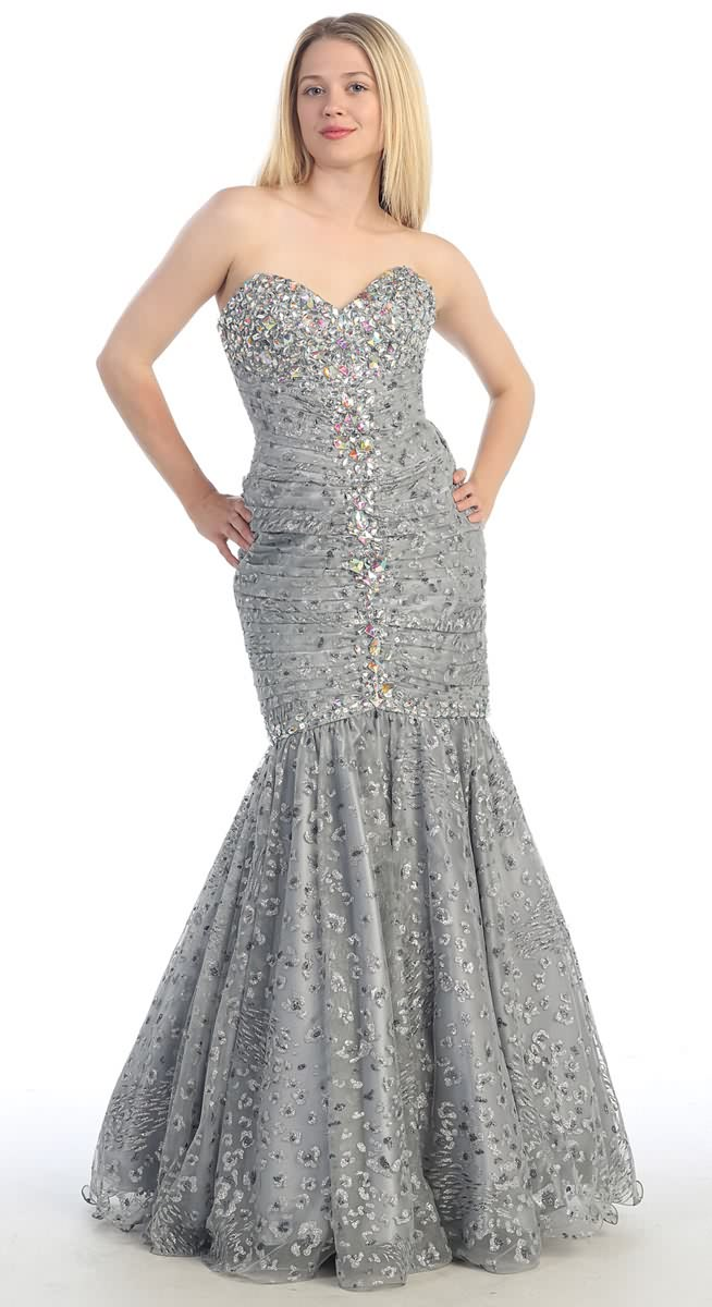 Robe soiree strass