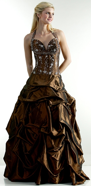 Robe de princesse 029827 Marron Taille 42