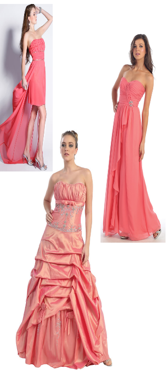 Robes Saumons/corail