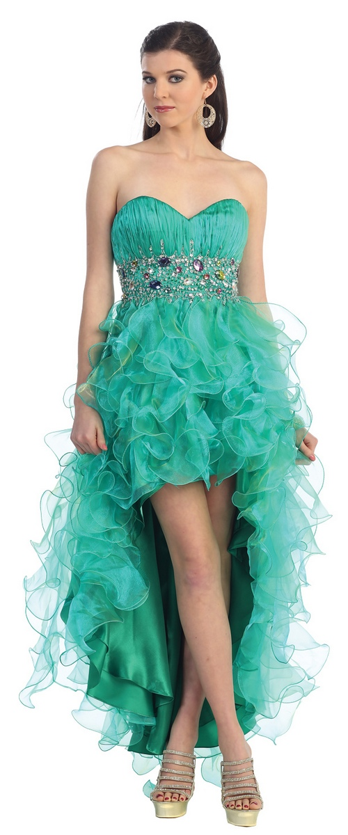 Robe cocktail courte verte